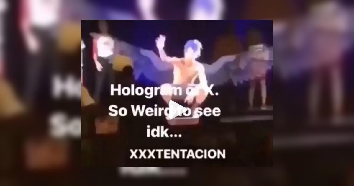XXXTentacionがホログラム映像で再現され、ステージ上に蘇った動画が公開される。