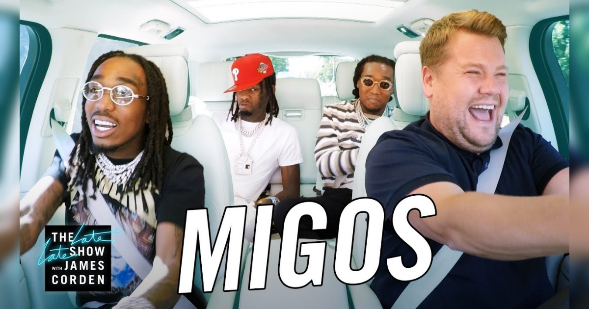 ミーゴスがカープール・カラオケに出演し、ホイットニー・ヒューストンなどの名曲を披露