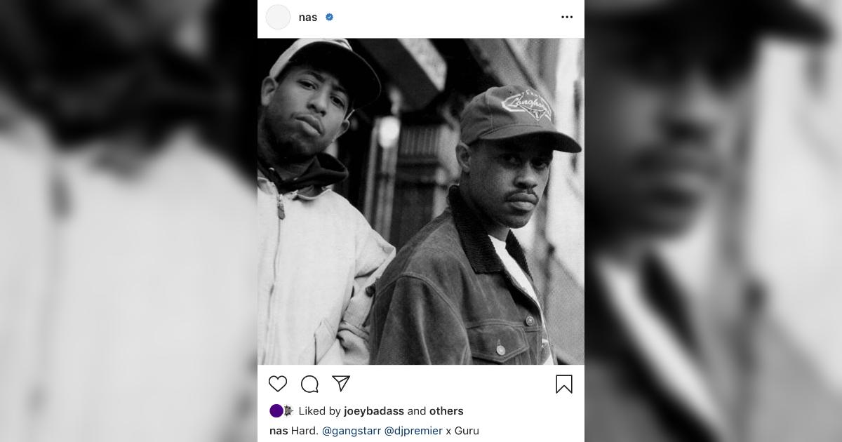 Nasが、リハビリ中のDMXやGang Starrの故GuruとDJ Premierにメッセージを送る。