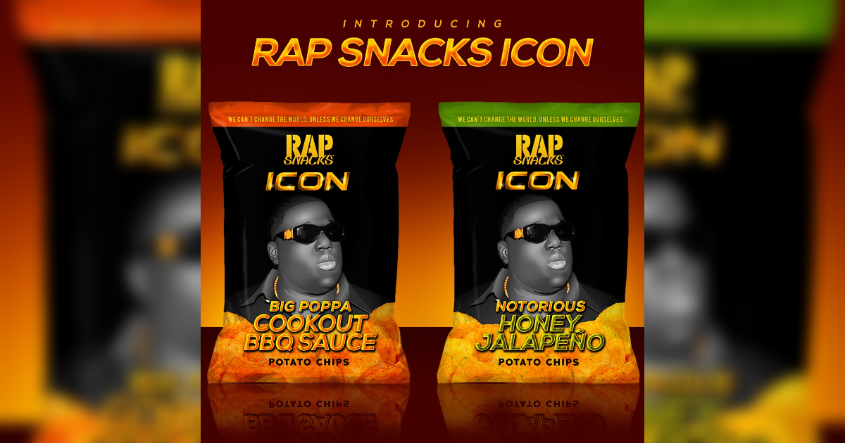 「ヒップホップの公式スナック菓子」こと「Rap Snacks」の新商品としてノトーリアス・B.I.Gが登場。