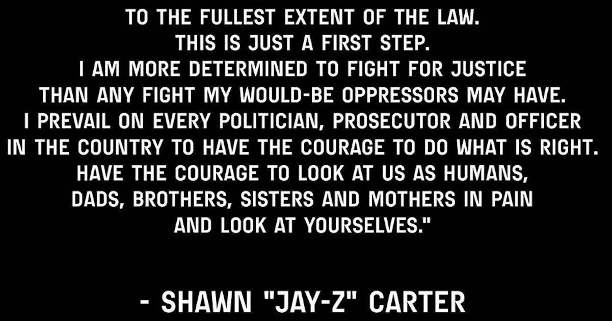 Jay-ZがGeorge Floyd事件についてミネソタ州知事と話し合い、声明を出す。「父親であり、痛みを感じている黒人の男性」として