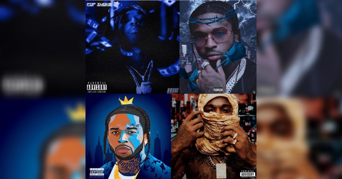 50 CentがPop Smoke遺作アルバムの新デザイン候補をシェアし、ファンに意見を聞く。どれがお気に入り?
