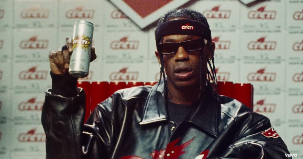 Travis Scott(トラヴィス・スコット)がオリジナルのビール「Cacti」を販売開始か?新曲のMVに新商品らしき缶やケースが登場